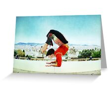 Scorpion with Barcelona views Greeting Card