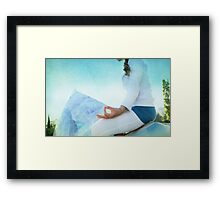 Chin Mudra, Woman Meditation Framed Print