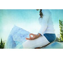 Chin Mudra, Woman Meditation Photographic Print