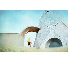 Yoga at Gaudi's Building 'La Pedrera', Barcelona Photographic Print