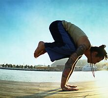 Yoga at the Port Olimpic, Barcelona by Wari Om  Yoga Photography