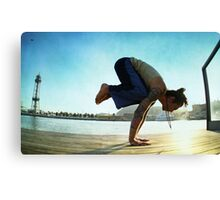 Yoga at the Port Olimpic, Barcelona Canvas Print