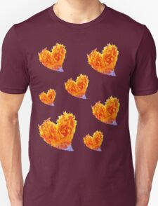 Hearts Burn  T or Stickers T-Shirt