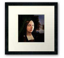 The Lady Knows Framed Print