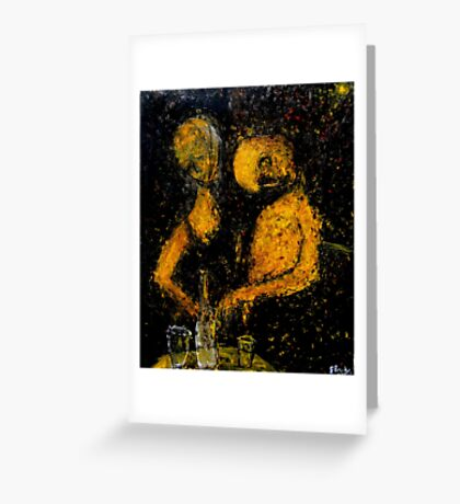 drunken couple Greeting Card