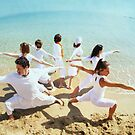 Group of Yoga Warriors by Wari Om  Yoga Photography