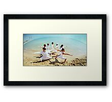 Group of Yoga Warriors Framed Print