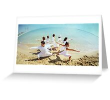 Group of Yoga Warriors Greeting Card