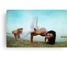 Balance and strengh Asana at the Beach Canvas Print