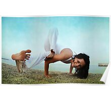 Balance and strengh Asana at the Beach Poster