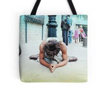 Humble meditation in the streets of Barcelona Tote Bag