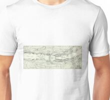 Vintage Map of The Hoover Dam (1930) Unisex T-Shirt