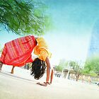 Colorfull Chakrasana  by Wari Om  Yoga Photography