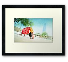 Colorfull Chakrasana  Framed Print