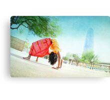 Colorfull Chakrasana  Canvas Print