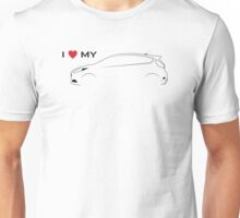 I Love My Hot Hatch (Light background) Unisex T-Shirt