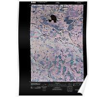 USGS Topo Map Washington State WA Lake Lawrence 20110405 TM Inverted Poster