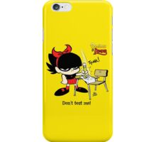 Demona - Don't test me iPhone Case/Skin