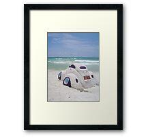 VW sand sculpture Framed Print