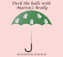 Deck the Halls with Martin's Brolly Baby Tee