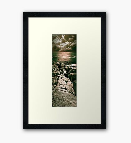 Peggy's Cove Vertical Pano Framed Print