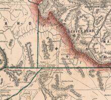 Vintage Map of Idaho (1883) Sticker
