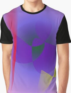 Decisive Woman Lavender Abstract Graphic T-Shirt