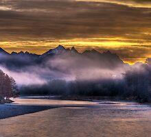 Skykomish River Sunrise by Jim Stiles