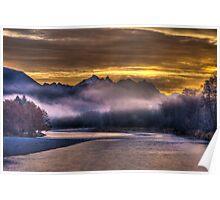 Skykomish River Sunrise Poster