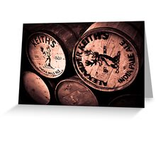 Alexander Keith's Barrels Greeting Card