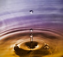 Droplet - Blue Gold by jphphotography