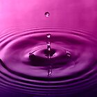 Water Droplets Purple/Pink by jphphotography