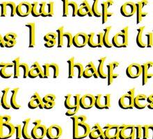 Bilbo's Speech Sticker