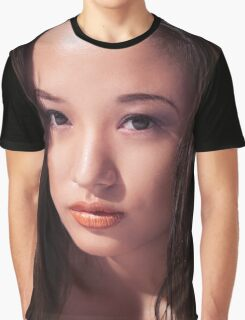 Beautiful young asian woman face art photo print Graphic T-Shirt
