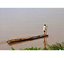 Life on MeKong River Photographic Print