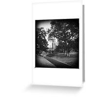 Silent Church. Greeting Card