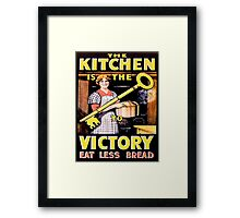 'The Kitchen is Key' cards and prints Framed Print