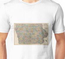 Vintage Map of Iowa (1875) Unisex T-Shirt