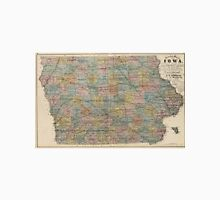 Vintage Map of Iowa (1875) Unisex T-Shirt