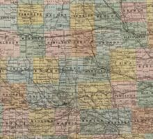 Vintage Map of Iowa (1875) Sticker