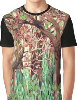 Lost in the Forest - watercolor painting collage Graphic T-Shirt