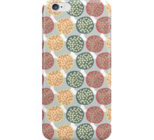 Modern winter pastel colors abstract dots iPhone Case/Skin