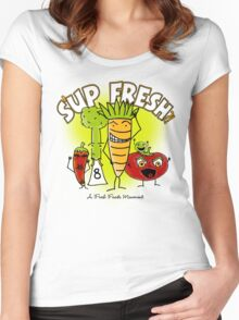 S'up Fresh?! Fresh Foods Movement Women's Fitted Scoop T-Shirt