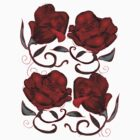Red Valentine Roses by bloomingvine