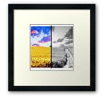 Contrast Landscape Framed Print