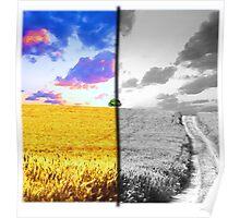 Contrast Landscape Poster
