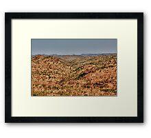 Pilbara Plains Western Australia Framed Print