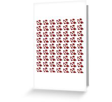 A cute black red dots lady bug pattern Greeting Card