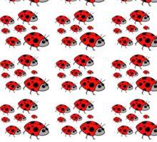 A cute black red dots lady bug pattern Sticker