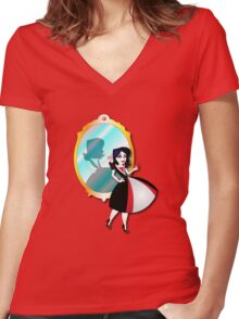 Twisted Tales - Snow White Tee Women's Fitted V-Neck T-Shirt
